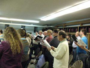 Muskegon Chamber Choir rehearsal